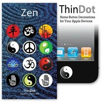 ThinDot Home Button Stickers for iPod/iPhone/iPad - Zen