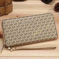 MK Women Leather Zipper Wallet Purse mieniwe?