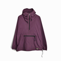 Vintage L.L. Bean Hooded Anorak Jacket in Purple - women's medium