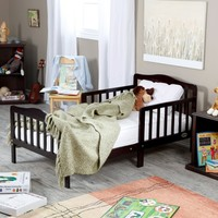 The Orbelle Contemporary Solid Wood Toddler Bed - Espresso | www.hayneedle.com