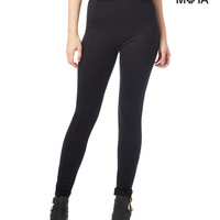 Aeropostale  Womens High-Waisted Solid Leggings - Black