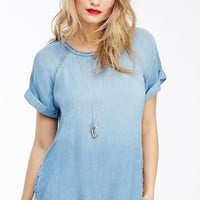 Blue Denim Short Sleeve T-Shirt