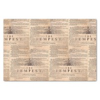 The Tempest Shakespeare Play Cream Tissue Paper