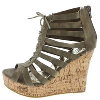 Green Bandit Wedge Sandal