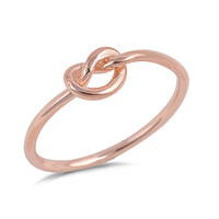 ROSE GOLD LOVE KNOT RING