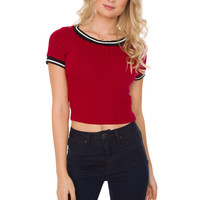 Marlowe Crop Top - Red