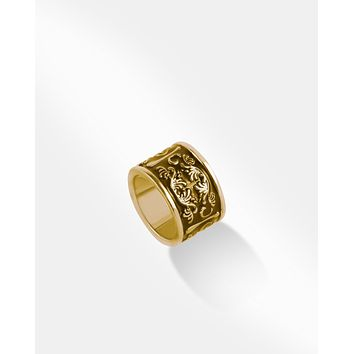 Brown & Gold Band Ring