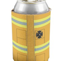 Firefighter Yellow AOP Can / Bottle Insulator Coolers All Over Print
