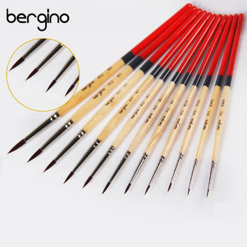 Watercolor Nylon Paint Brush Gouache Watercolor Drawing Brush Watercolor Painting Brush Artist Brush Oil Painting Brush Wood Handle Brush