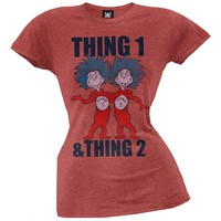 Dr. Seuss - Thing 1 and Thing 2 Juniors T-Shirt