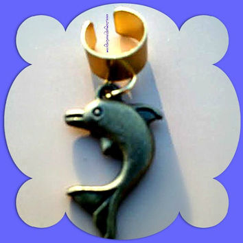 Dolphin Ear Cuff,Dolphin Jewelry,Beach Marine Nautical, Cartilage Earrings,Cruise Resort Wear, Gifts for Her, Ready to Ship, Direct Checkout