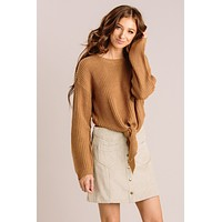Bella Front Tie Knit Sweater