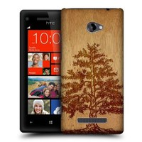 Head Case Designs Tree Wood Art Protective Snap-on Hard Back Case Cover for HTC Windows Phone 8X