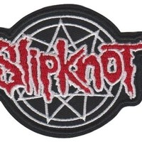 Slipknot Iron-On Patch Pentagram Letters Logo