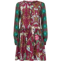 Alberta Ferretti Patchwork Print Silk Dress | Harrods.com