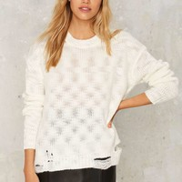 Nasty Gal Shred Light Distressed Sweater