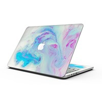 Marbleized Pink and Blue Paradise V371 - MacBook Pro with Retina Display Full-Coverage Skin Kit