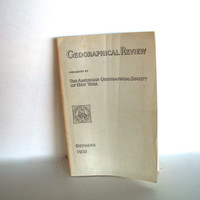 Geographical Review October 1932 Some Wear And Aging 3 Foldout Maps Black White Photos And Illustrations Vintage