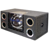 """Pyramid Dual Bandpass System With Neon Accent Lighting (12"""" 1200 Watts)"""
