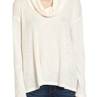 Sun & Shadow Cowl Neck Flyaway Back Tee | Nordstrom