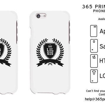 Big Sis and Lil Sis White Phone Case for Apple iPhone, Samsung Galaxy S, HTC One M8, LG G3