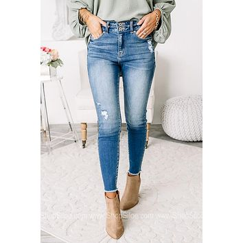 The Hannah High Rise Ankle Skinny