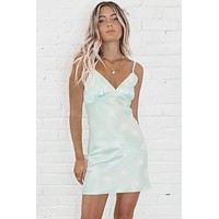 Sittin' Pretty Pistachio Mini Dress