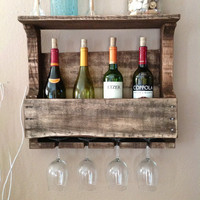 Gentlewomanly Wine Rack in Dark Walnut - FREE US SHIPPING