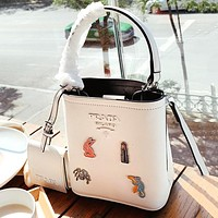 PRADA Newest Fashion Women Shopping Leather Shoulder Bag Crossbody Satchel White