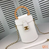 121 Fashion Pop Chain Crossbody Handle Bucket Bag 14-18-14cm