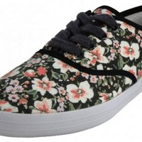 EasySteps Women's Canvas Lace Up Shoes with Padded Insole, Water Color Floral, US Women's 7 1/2 B(M) US