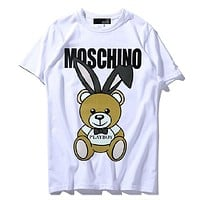 Moschino Woman Men Fashion Casual Sports Shirt Top Tee-4