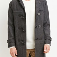 Toggle-Front Hooded Coat