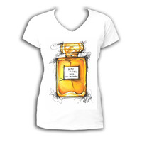 Perfume bottle shirt, Fashion Shirt, Printed Shirt,Personalized Shirt, Custom Made T-shirt, Made Of My Original, Perfume bottle illustration