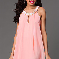 Short Shift Dress with a Keyhole Cut Out