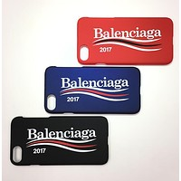 """Balenciaga"" Popular Women Men Fashion Letter Print For iPhone 6 plus iPhone 7 Hard Shell Phone Case"