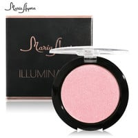 MARIA AYOR Highlight Powder 4 Colors Highlighter Palette Easy to Wear Bronzing Makeup Primer Brighten Long-lasting Powder