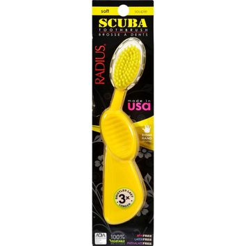 Radius Scuba Right Hand Toothbrush Soft Bristles - 1 Toothbrush - Case Of 6