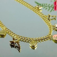 8DESS Juicy Couture Woman Fashion Accessories Fine Jewelry Chain Necklace