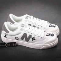 New balance x LV Fashion Flats Sneakers Sport Shoes Print For Women Men G-A36H-MY