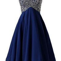 Dressystar Beaded Sweetheart Semi formal Cocktail Party Dress Lace-up Back