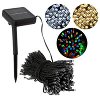 Decorative Solar Christmas Lights 100 LED Modes Fairy String Light for Outdoor Wedding Party Seasonal Decorations E2shop