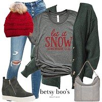 Set 351: Let it Snow Tee (incl. tee, cardigan and hat)