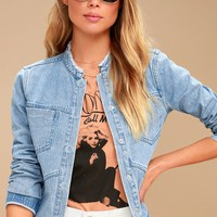 Josephine Light Wash Denim Jacket
