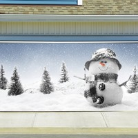 Christmas Garage Door Cover Banners 3d Snowman Holiday Outside Decorations Outdoor Decor for Garage Door G75