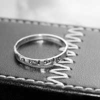 Date Ring Personalized Stacking Ring Stackable Ring Wedding Date Birthday Anniversary Ring