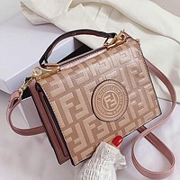 Fendi Women Fashion Leather Shoulder Bag Crossbody Bag