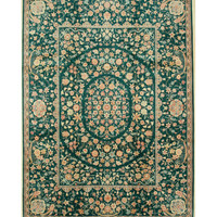Green Traditional Pak-Persian Rug, 9'2 x 12'6