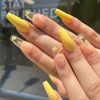 Fashionable Ballet A Type Fake Nail Patch Removable Wearable Nail Finished Product