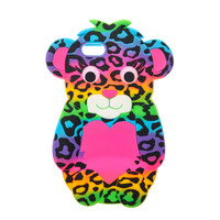 Rainbow Leopard Print Bear Phone Case - iPhone 6